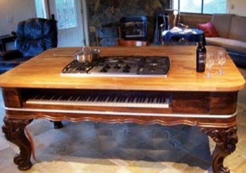 Tận dụng đàn Piano cũ để trang trí nhà