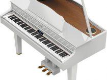 Đàn piano điện grand màu trắng