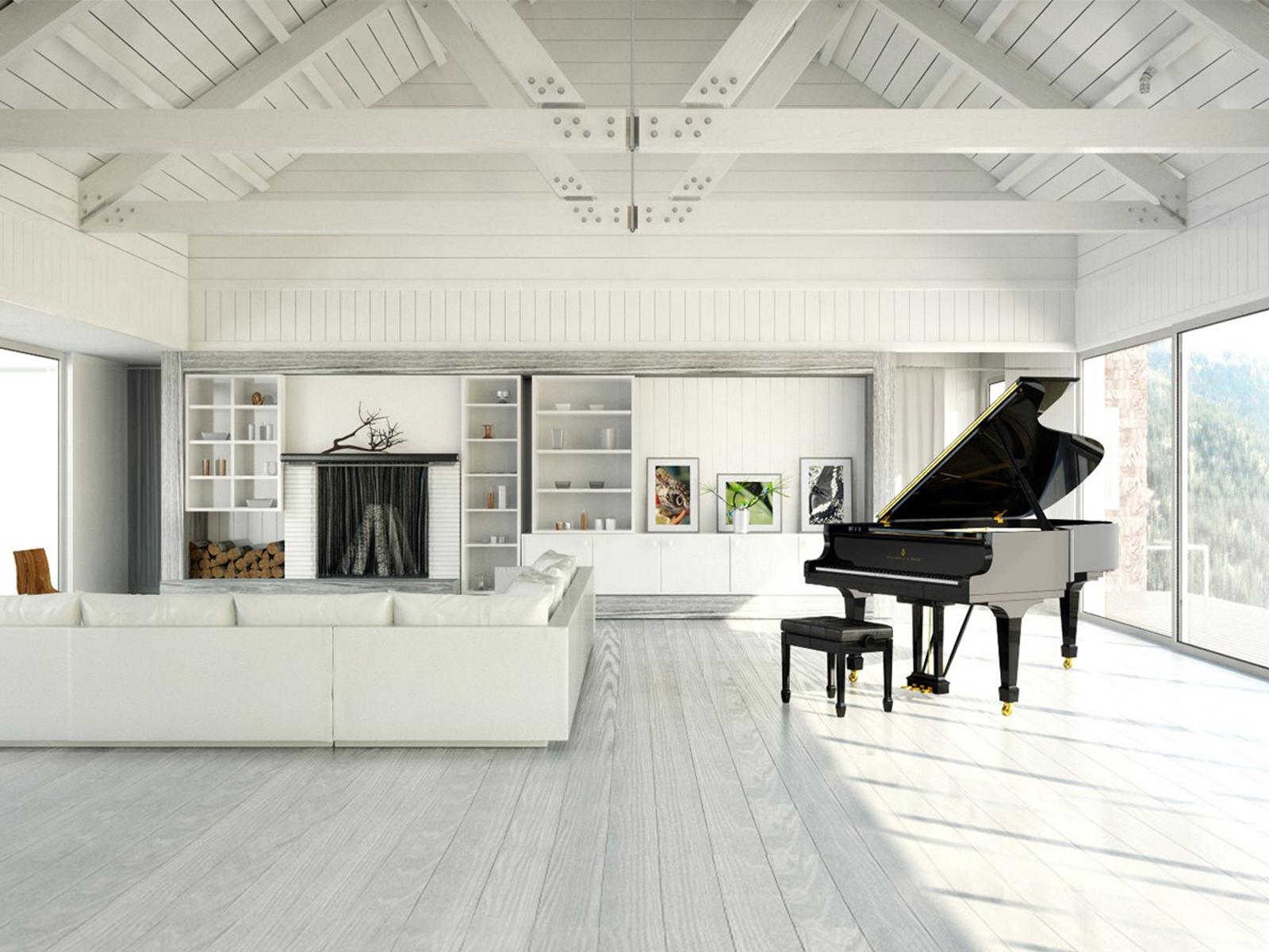 đàn piano trong biệt thự